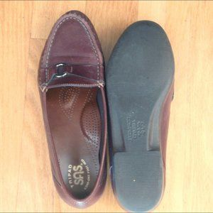 SAS Tripad brown leather loafer shoes